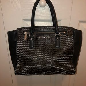 Micheal Kors Silver Studded Purse